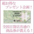 【プレゼント企画】 全国共通百貨店ギフト券1枚 (1000円相当)