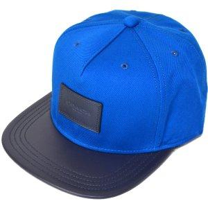 画像1: 【COACH】コーチ ジャガード レザー キャップ 帽子 デニム×ミッドナイト〔日本未発売〕