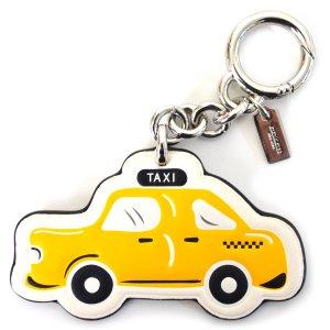 画像1: 【COACH】コーチ タクシー レザー キーリング チャーム キーホルダー マルチ(日本未発売)