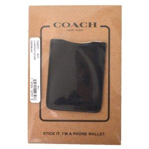 画像1: 【COACH】コーチ レザー フォン ウォレット ステッカー スマホ マルチ ポケット ケース ブラック(日本未発売)