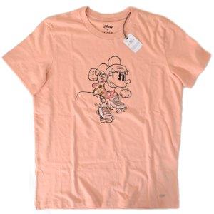 画像1: 【COACH】コーチ ディズニー ミニーマウス コラボ Tシャツ S ローズピンク(日本未発売)