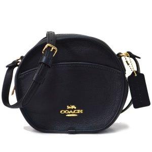 画像1: 【COACH】コーチ レザー 斜め掛け ショルダー クロスボディ バッグ ブラック(日本未発売)