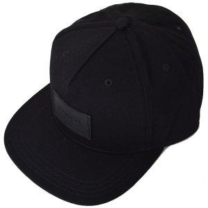 画像1: 【COACH】コーチ ジャガード レザー キャップ 帽子 ブラック〔日本未発売〕