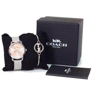 画像1: 【COACH】コーチ レックス シグネチャー ブレスレット バングル レディース ウォッチ 腕時計 シルバー〔日本未発売〕