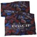 【COACH】コーチ メンズ ウール ランドスケープ プリント スカーフ ブルー (日本未発売)