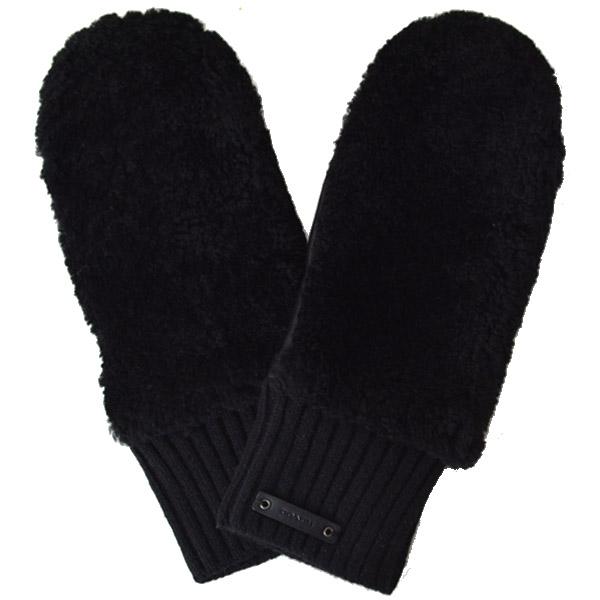 64335e208889 画像1: 【COACH】コーチ レザー ミトン グローブ 手袋 ブラック(日本未発売