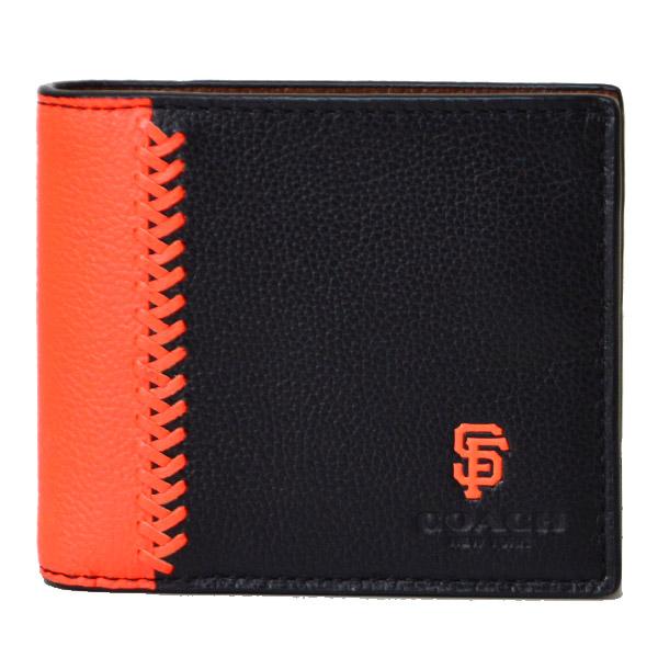 4286ba51b414 画像1: 【COACH】コーチ メンズ サンフランシスコ・ジャイアンツ コラボ レザー ID カードケース