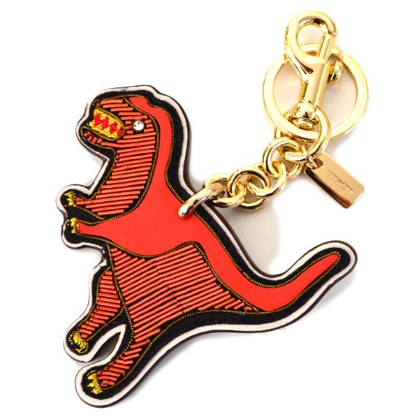 6246b420d9b2 画像1: 【COACH】コーチ エンブロイダード 刺繍 レキシー ダイナソー 恐竜 レザー キーリング