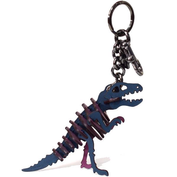 000e1f625ab9 画像1: 【COACH】コーチ グラブタンレザー スモール レキシー 恐竜 キーリング キーホルダー バッグチャーム